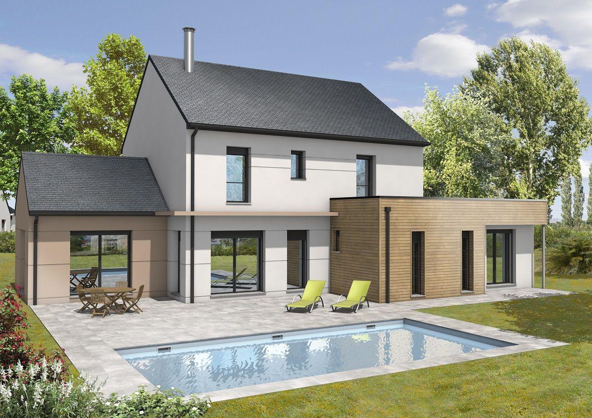 exemple de maison moderne ou maison contemporane