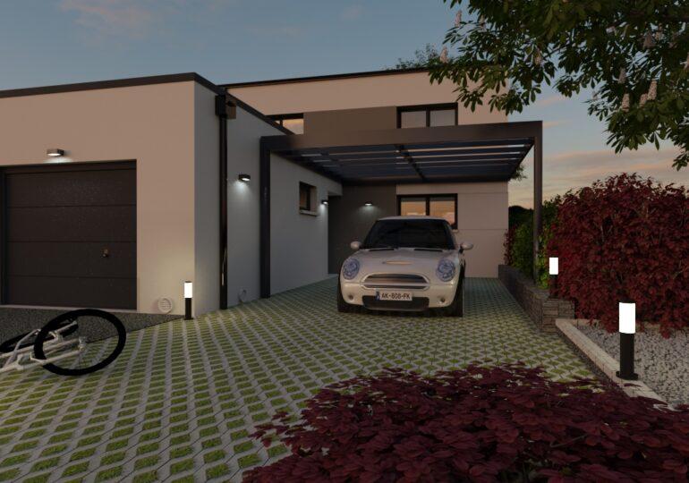 Maison moderne et fonctionnelle