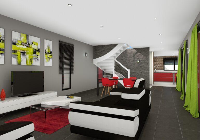 Maison contemporaine T5 163 m2