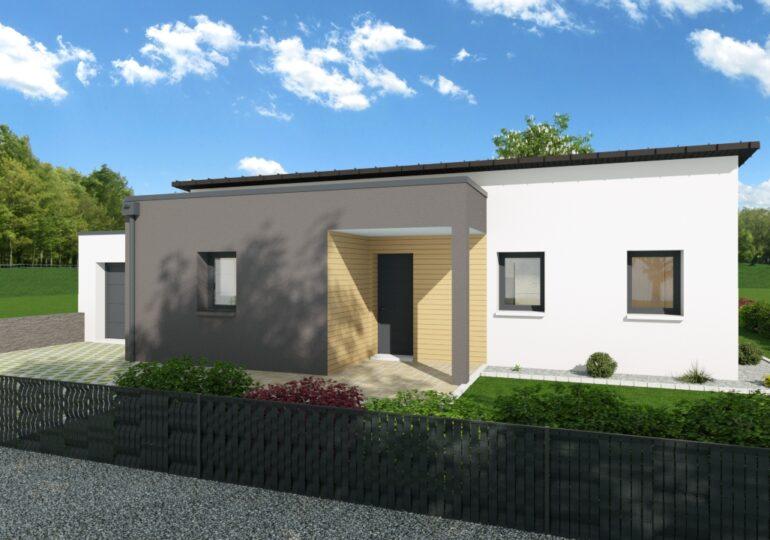 Maison plain pied T3 71m2 (mono pente)
