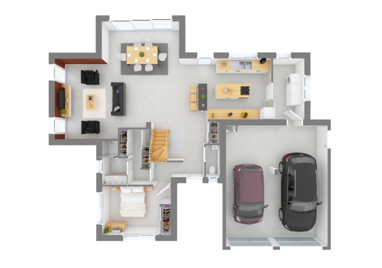 Maison moderne 4 pans T5 134 m2
